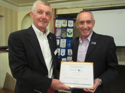 East Point Rotary Receives Highest International Accolade