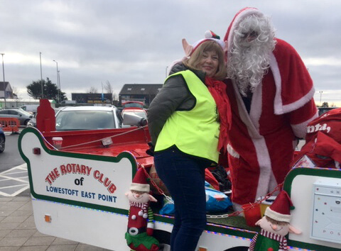 Rotary Santa Sleigh Has Record Christmas in 2018